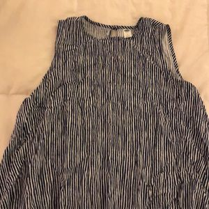 Old Navy Blue and White Striped Top. Size Large